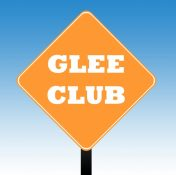 Glee club-skylt